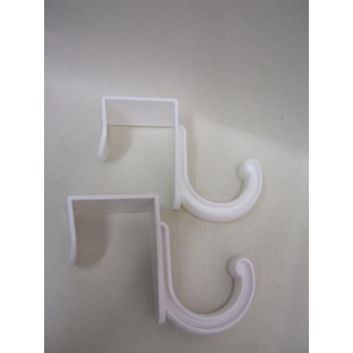 New Plastic White Over The Door Single Hook Hanger Pk2