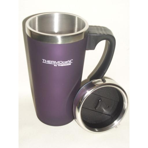 New Thermos Thermocafe Zest Travel Mug Beaker Cup 0.42L Purple