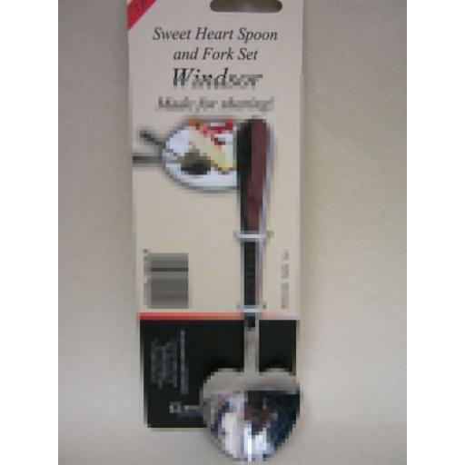 New Windsor Sweet Heart Cake Spoon And Fork Set Stainless Steel