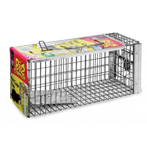New Stv Big Cheese Rat Cage Trap Live Catch Metal STV075