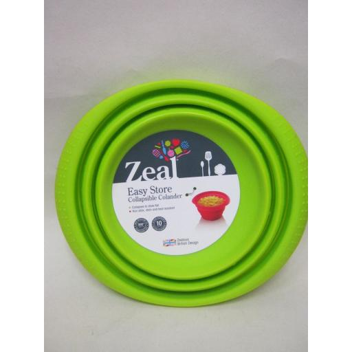 New Zeal Silicone Colander Collapsible 19cm Medium M125 Lime Green