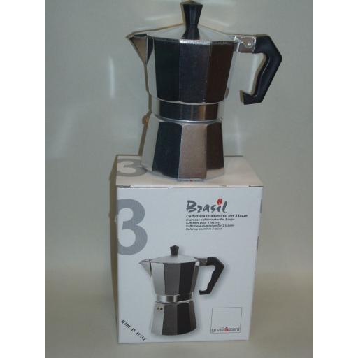 New Brasil Italian Stovetop Express Espresso Coffee Maker 3 Cup