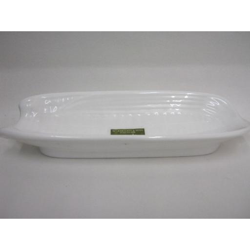 New Wm Bartleet Corn On The Cob Dish White Porcelain T192 21.5cm