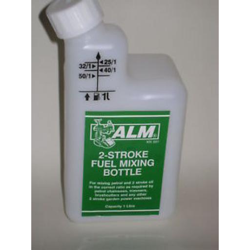 New Alm 2 Stroke Fuel Petrol Mixing Bottle Plastic 1 Ltr MX002