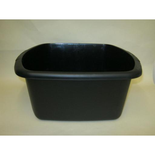 "New Whitefurze Plastic Washing Up Bowl 31.5cm 12 1/4"" Small Oblong Black"