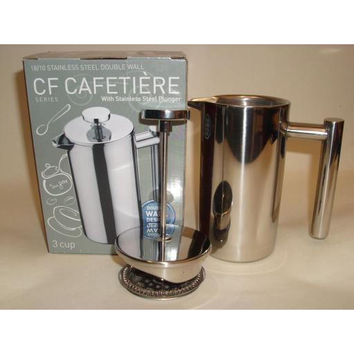 New Grunwerg Stainless Steel Double Walled Coffee Plunger Cafetiere 6 Cup CFD-06