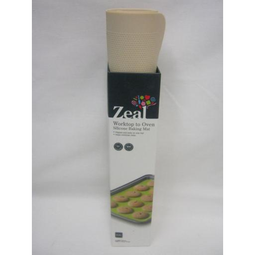 New Zeal Worktop To Oven Non Stick Silicone Baking Mat Sheet N171C Cream