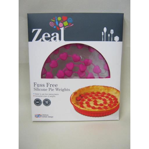 New Zeal Fuss Free Silicone Pie Weights For Blind Baking Pink NB43
