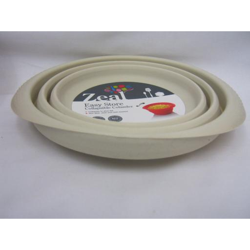New Zeal Silicone Colander Collapsible 19cm Medium M125 Cream