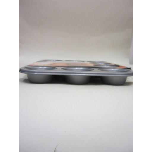 New Stellar James Martin Metal Non Stick Heavy Duty Muffin Cupcake Tin 12 SJM57