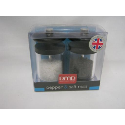 New DMD David Mason Design Salt And Pepper Mill Set ML0004020 Orion Black