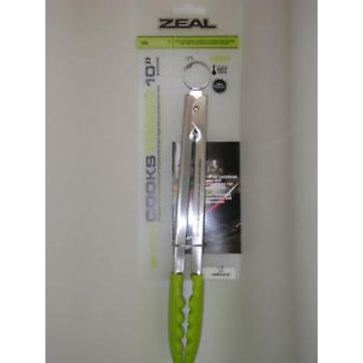 New Zeal Silicone Cooks Tongs Lime Heat Resistant 10in J140L