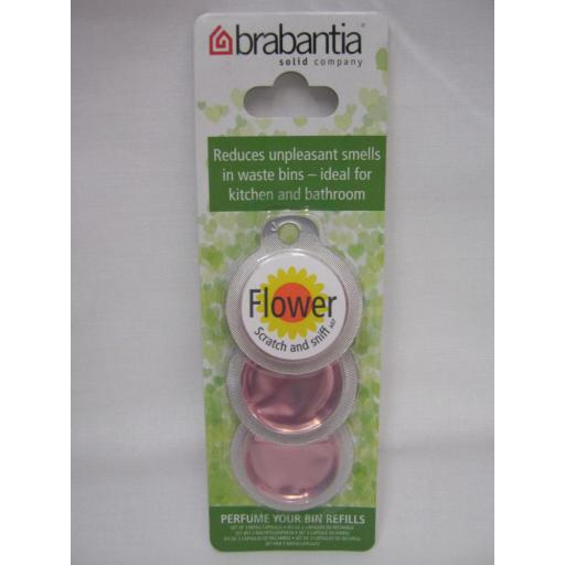 New Brabantia Perfume Your Bin Refill Freshener Fragrance Flower Pk3