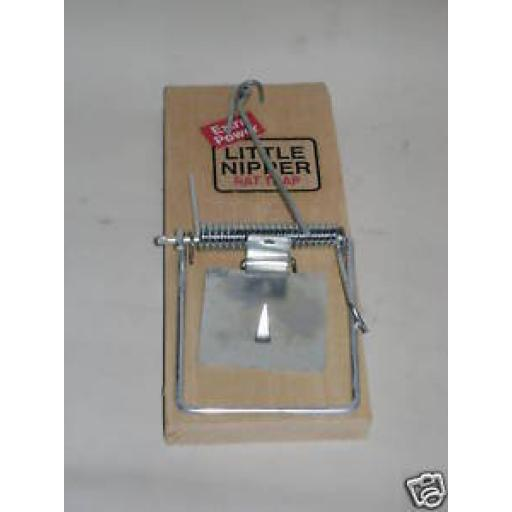 New The Little Nipper Traditional Wood Rat Trap Wooden