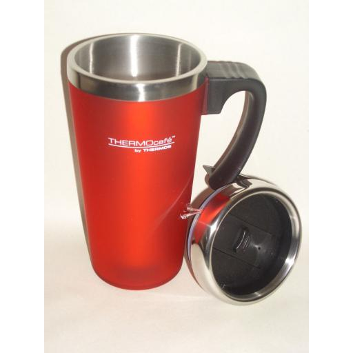 New Thermos Thermocafe Zest Travel Mug Beaker Cup 0.42L Red