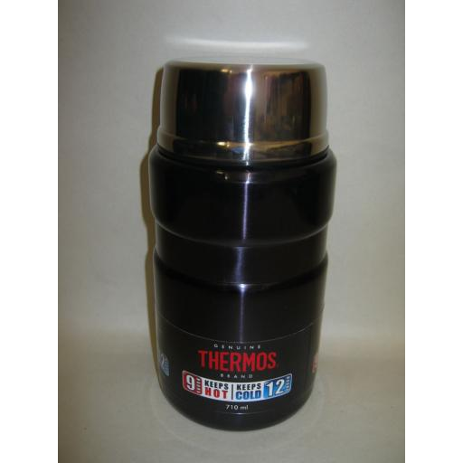 New Thermos Steel King Food Flask 710ml Blue 0.71L Large