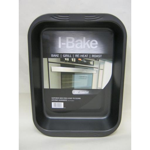 """New I-Bake Large 15"""" Roast Roasting Bake Grill Pan Tray 5585"""