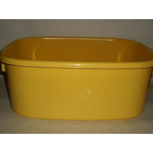 """New Lucy Yellow Large Oblong Plastic Washing Up Bowl 38cm 15"""" Slight seconds"""