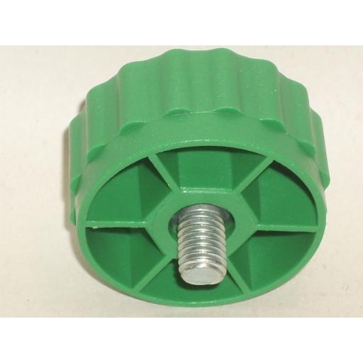 New Alm Spool Bump Knob M8 Bolt Left Hand Thread Green GP005