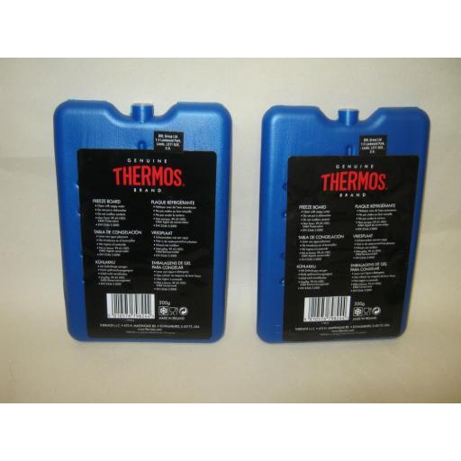 New Thermos Ice Packs Freezer Blocks Boards 2 X 200G