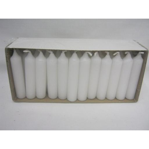 New Small Christmas Advent Candles White Pk48 75mm x 15mm