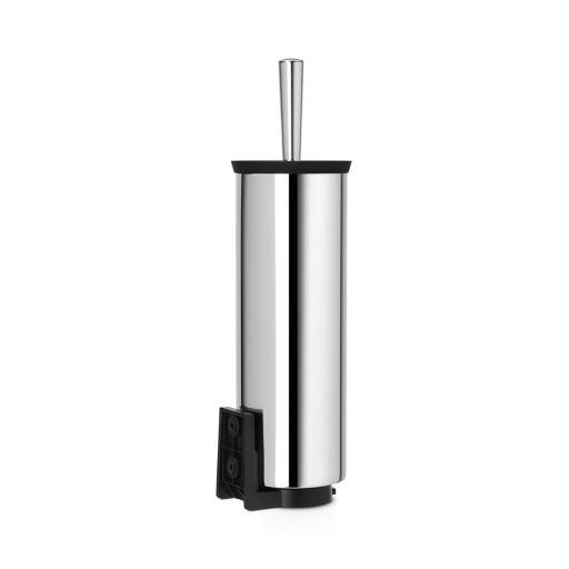 New Brabantia Toilet Loo Brush And Holder Stainless Steel Wall Mountable 427169