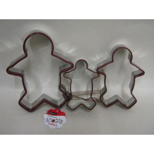 New Eddingtons Biscuit Pastry Cookie Metal Cutters Set 3 Gingerbread Men 853025
