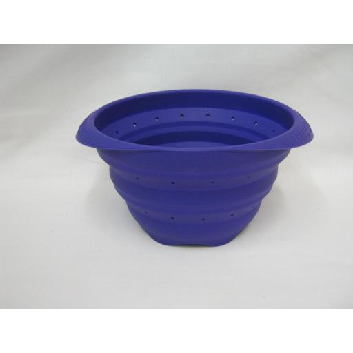 New Zeal Silicone Small Colander Collapsible 15cm M124 Purple