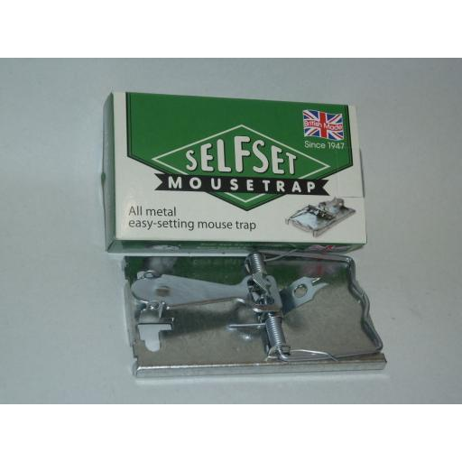 New Selfset Easy Setting Metal Mouse Rodent Trap Reuseable