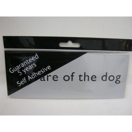 New Beware Of The Dog Self Adhesive Name Plate Sign Plaque Silver MEP41