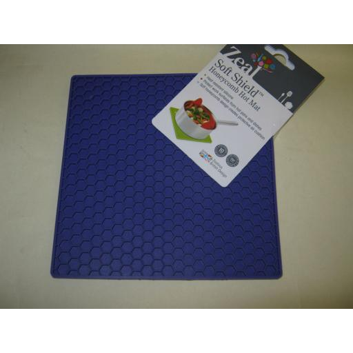 New CKS Zeal Silicone Kitchen Honeycomb Hot Mat Square Trivet J352 Purple