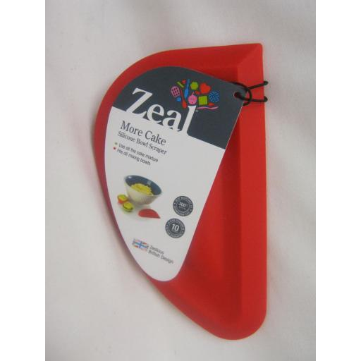 New Cks Zeal Silicone Mixing Bowl Dish Baking Scraper Large Red J225