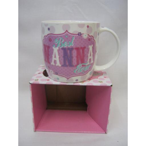 New BGC Fine China Mug Beaker Coffee Cup Tea Best Nanna Ever KL0026