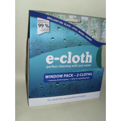 New E-Cloth Window Cleaner Cleaning Pack 2 x Cloths