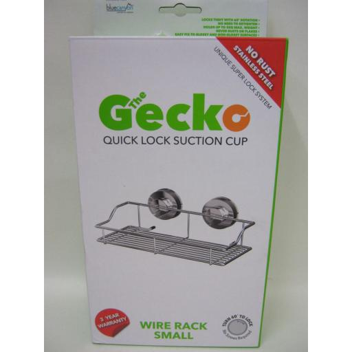 New The Gecko Quick Lock Suction Cup Shower Bath Caddy Wire Rack Small GEK-250