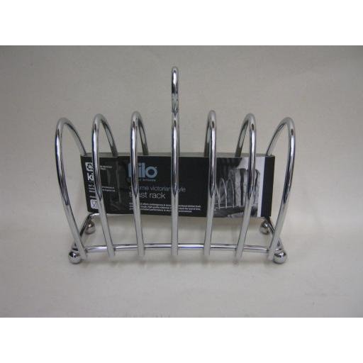 New Kilo Chrome Victorian Shaped Toast Rack BA51