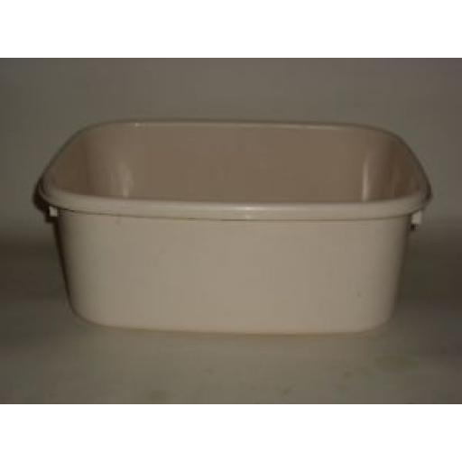 "New Lucy Beige Maize Small Oblong Plastic Washing Up Bowl 13"" 33cm Slight Second"