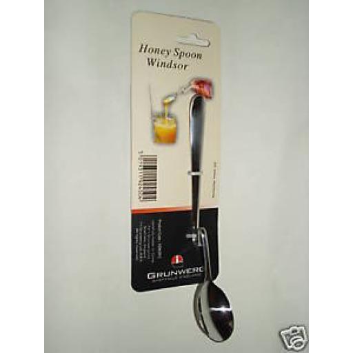 New Grunwerg Windsor Stainless Steel Honey Spoon Plain HSWSR/C