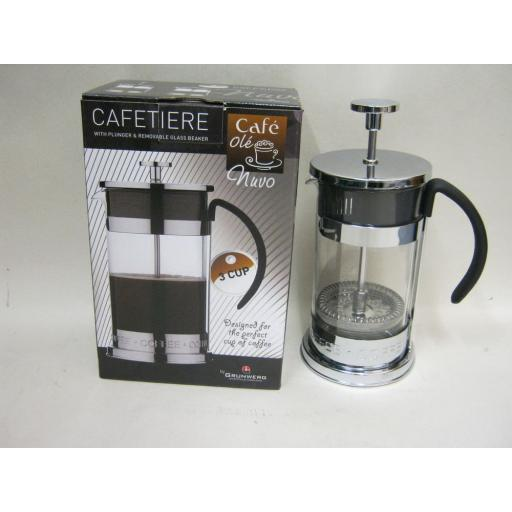New Grunwerg Cafe Ole Nuvo Coffee Plunger Cafetiere 3 Cup CM-03CS