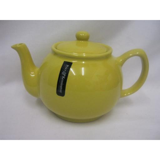 New Price And Kensington Pot Teapot 6 Cup Tea Pot 0056.759 Yellow