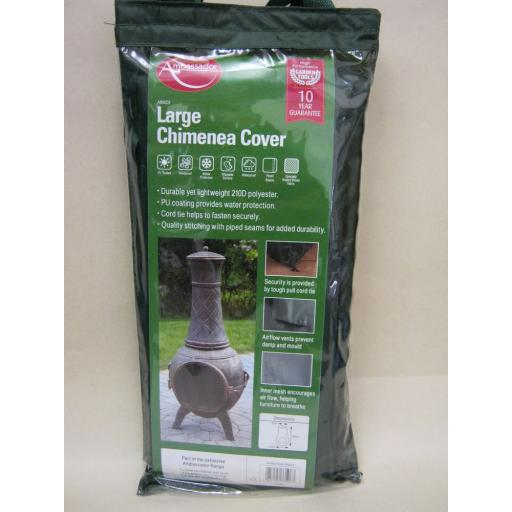 New Ambassador Large Chimenea Cover Green ABGC5