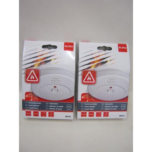 New Elro Smoke Fire Alarm Detector General Purpose RM144C Pk2