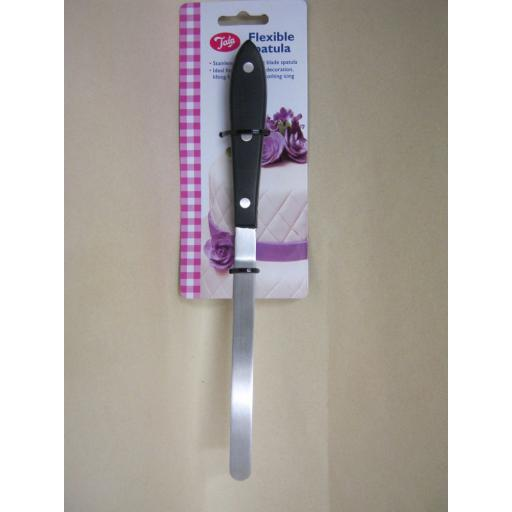 New Tala Stainless Steel Wood Handle Flexible Spatula Fine Flat Blade 10A10583