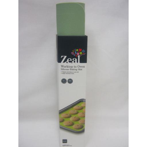 New Zeal Worktop To Oven Non Stick Silicone Baking Mat Sheet N171S Green