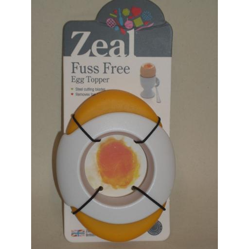 New Zeal Boiled Egg Topper Cutter Slicer Fuss Free Yellow And White J77