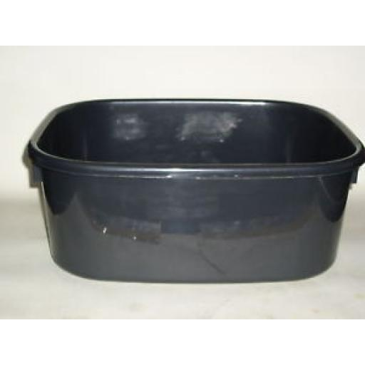"""New Lucy Black Large Oblong Plastic Washing Up Bowl 38cm 15"""" Slight Seconds"""