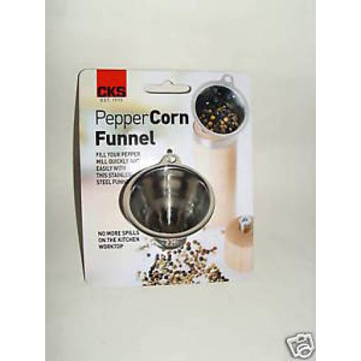 New Kilo Stainless Steel Pepper Corn Spices Sauces Funnel J195