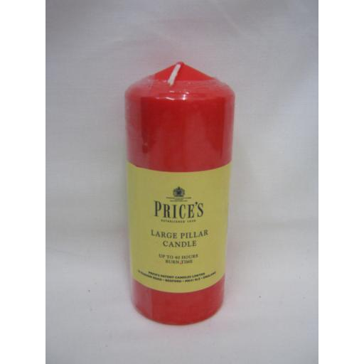 New Prices Pillar Church Candle 14cm x 6cm Red