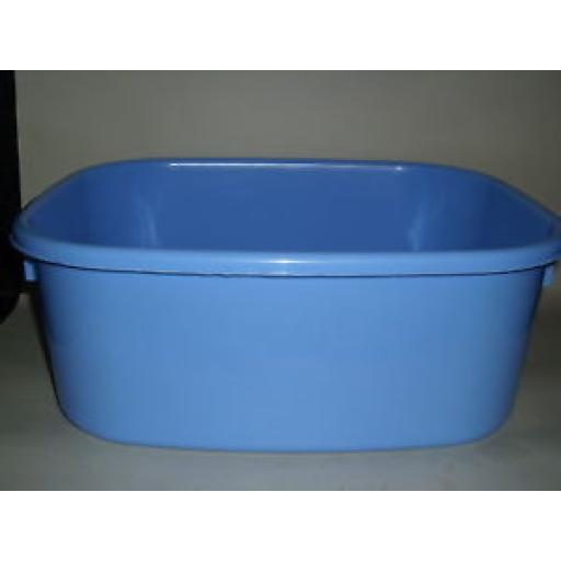 "New Lucy Blue Large Oblong Plastic Washing Up Bowl 38cm 15"" Slight Seconds"