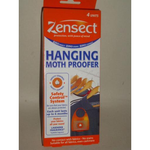 New Zensect Hanging Clothes Moth Proofer Hang Pk 4 Lavender Fragrance